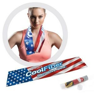 "Deluxe CoolFiber® Active Cooling Towel - Full Bleed (7""x 33"")"